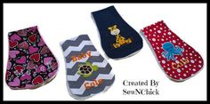 Custom Made Shoulder Burp Pads by SewNChick on Etsy