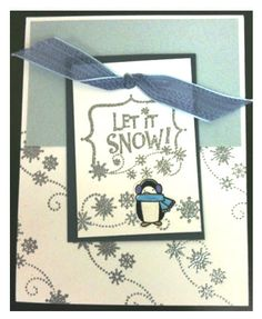 Hampton Art Let It Snow Card by Diana Kovacs Christmas Is Coming, Christmas Cards, Make Your Own Card, How To Make, Hampton Art, Scrapbook Quotes, Journal Quotes, Winter Cards, Creative Cards