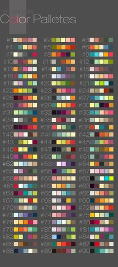Color Palletes by putemphasis on DeviantArt