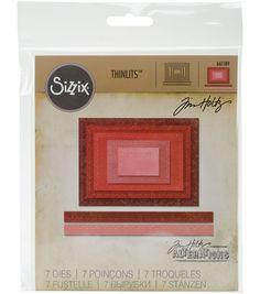 10 pcs Framelits Sizzix Kit de gabarits rectangle