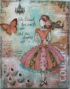 Gabriellep's Gallery: Mixed Media Canvas (Template & Tutorial!!)    I have thought about doing some art journaling lately.   This piece inspires me.