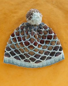 ede68058927 Hank Hat knitting kit designed by Spincycle Yarns.  kitterlykits Honeycomb  Stitch