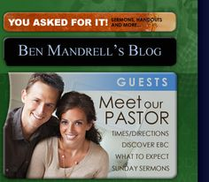 Ben Mandrelll's blog and archive of sermons...will bless your heart!