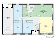 Les 10 meilleures images de plan maison 90m2   Plan maison, Maison et Plan maison 90m2
