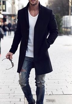 Menswear / Mensstyle / Mens Fashion / Guys with style / Streetwear & Fashion Guys, Mens Fashion 2018, Fashion Mode, Mens Fashion Suits, Look Fashion, Trendy Fashion, Male Fashion Styles, Beard Fashion, Fashion Vintage