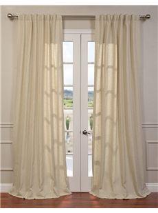 Half Price Drapes Hilo Natural Linen Blend Solid Curtain  , #HalfPriceDrapes  , #BlendSolidCurtain