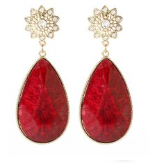 Amrita Singh East Lake Earrings ($40) ❤ liked on Polyvore featuring jewelry, earrings, accessories, red, brincos, amrita singh jewellery, red earrings, earring jewelry, amrita singh and red jewelry