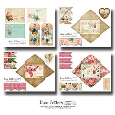Love Letters - Printable Journal Kit