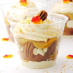 Caramel Pecan Cupcake in a cup