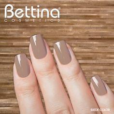 """Color neutral que combina bien con todo, así es nuestro #Bettina Nail Enamel en color """"Suede"""" #nailpolish #nailenamel"""