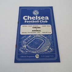 Vintage 1959 Chelsea Versus Arsenal Football Soccer Programme by VintageBlackCatz on Etsy
