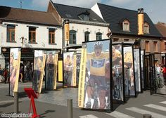 The Tour de France expo this morning in Orchies