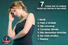 7 coisas que os homens fazer que irritam as mulheres.