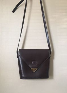 Cristian Vintage Purse Brown Authentic Florence Leather Shoulder Bag #Cristian #MessengerCrossBody