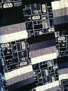 """Quilted blanket  Baby Throw Quilt  """"A New Hope""""  Star Wars Handmade to order. $115.00, via Etsy."""