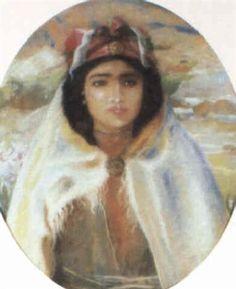 Peinture Algérie - La jeune Berbère von Paul Alexandre Alfred Leroy