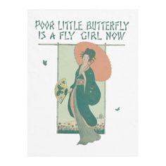 Poor Little Butterfly Is A Fly Girl Now Fleece Blanket