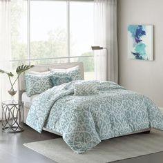 Madison Park Pure Elena 5-Piece Reversible Comforter Set in Aqua - $99.99