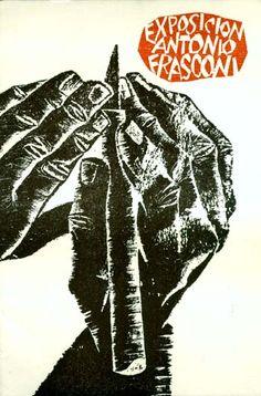 "Antonio Frasconi, cover ""Exposicion Antonio Frasconi"", 1967, Uruguay/Argentina/USA"