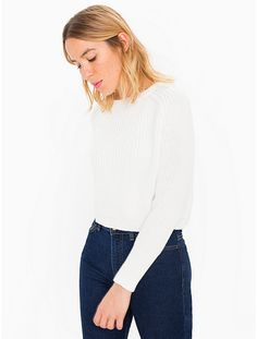 Shop American Apparel - Find fashionable basics for men, women, children, and babies. Milk Duds, Friend Outfits, American Apparel, Turtle Neck, Pullover, Blouse, Jeans, Sweaters, Clothes