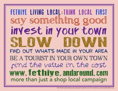 More than just a shop local campaign! ...be a tourist in your own town!