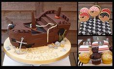 Pirate Ship Cake & Pirate Cookies