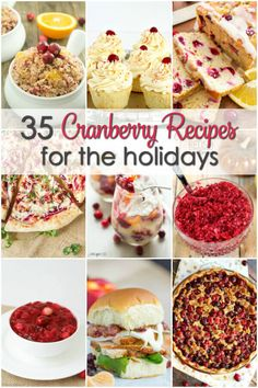 If you like cranberries, check out this collection of cranberry recipes. There are desserts, main dishes, side dishes, salads and more.