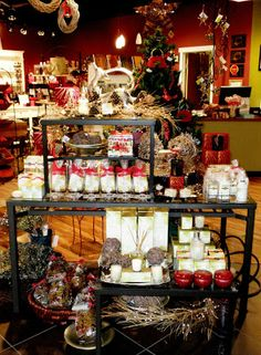 Display and visual merchandising inspiration from Flourishing Retailers! #Holiday #VisualMerchandising