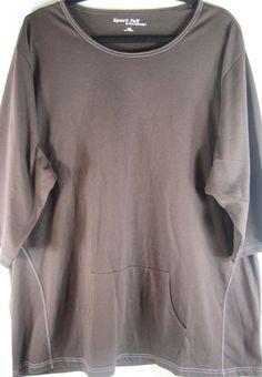 Sport Tek Women S/S T Shirt Size 4XL Brown 100% Cotton NEW.  XXX 43 #SportTek #BasicTee