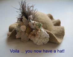 Wish You Were Here, Mom: Tutorial - o chapéu de feltro para o meu próximo Bear (Modelado pelo meu junho Planejamento Dal: O)