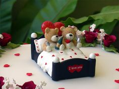 Teddies in Bed by specialcakes/tracey, via Flickr