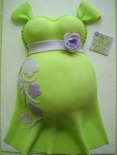 A tasteful belly cake...