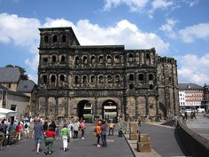 Walking through this gate and thinking of all those who preceded, was a thrill. The Porta Nigra (Black Gate), Trier's Roman Gate, one example of the many vestiges of the Roman Empire still found in Germany. Byzantine influences are visible in its church and relics...an interesting testament to continuity within what we often understand as absolutes.