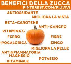 Benefici della zucca >>> http://www.piuvivi.com/alimentazione/zucca-ricette-al-forno-spaghetti-sott-olio.html <<<