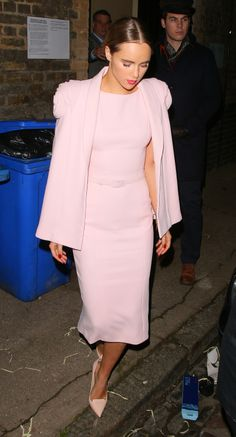 Suki Waterhouse opted for a pastel pink look by Ralph & Russo Haute Couture for an evening look // Style Recipe: What You Need To Steal Suki Waterhouse's Look