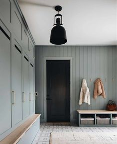 The Fresh Appeal of Green Cabinets - Classic Casual Home Classic White Kitchen, Green Cabinets, Cozy House, The Fresh, Mudroom, Modern Farmhouse, Interior Inspiration, Home Goods, Family Room