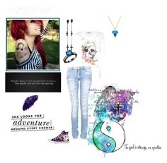 Tattoos and a switchblade attitude, snakebite heart with a bubblegum smile. by surrealstarr on Polyvore featuring Alexander McQueen, Converse, Me & Zena, Kate Spade, DOMESTIC and Disney