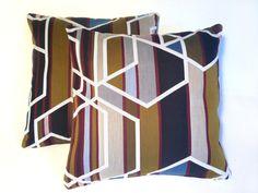 Cushion in Maharam Agency fabric by Sarah Morris