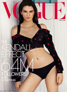 Cover girl: Kendall Jenner has landed herself on the cover of Vogue for a special Los Ange...