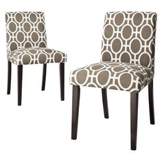 Uptown Parson Dining Chairs Trellis - Set of 2