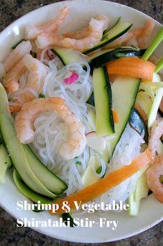 Recipes By Vance: Shrimp & Vegetable Shirataki Stir-Fry Asian Recipes, Japanese Recipes, Ethnic Recipes, Food Journal, Recipe Journal, Recipe Plate, Recipe Log, Food Log, Most Delicious Recipe