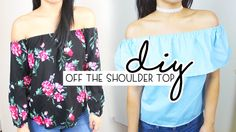 DIY Off The Shoulder Tops Shoulder Tops, Shoulder Shirts, Off Shoulder Blouse, Off The Shoulder, Sewing Tutorials, Sewing Projects, Sewing Patterns, The Sorry Girls, Mexican Shirts