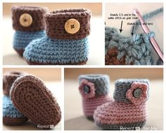 The Perfect DIY Crochet Cuffed Baby Booties with Free Pattern