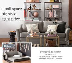 Small Space Big Style | Pottery Barn