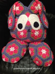 Large Crocheted Easter Bunny