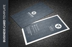 Clean Elegant Vertical Business Card by Verazo on @creativemarket