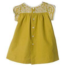 Robe Nicili Ocre Boutique en ligne Bonpoint