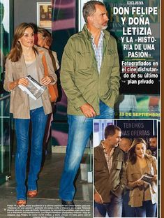 "King Felipe and Queen Letizia of Spain were seen in Madrid. King Felipe and Queen Letizia watched the new Terence Davies movie ""A Quiet Passion"" (Spanish: Historia de una pasión) at Palafox cinema in Madrid."