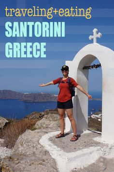 How to hike from Fira to Oia. The 11 km Fira to Oia Hike is fabulous way to spend time soaking in the beauty of Santorini. This travel guide to Santorini will give you tips on how to hike this trail. #OIA | #SANTORINI | #GREECETRAVEL | #GREEKISLANDS | #TRAVELGREECE at OatandSesame.com #oatandsesame