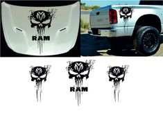 Dodge Ram - Hood & Fender Stripes hood and fender decal vinyl graphics sticker logo high quality ! SIZE : for this cars Dodge Ram 1500 2500 Minor trimming may be required unless otherwise specified. Dodge Ram 1500 Accessories, Ram Accessories, Pickup Truck Accessories, Ram Trucks, Dodge Trucks, Ram 1500 Custom, Dodge Ram Logo, Truck Stickers, Logo Sticker